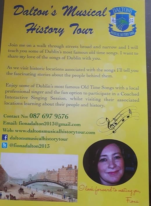 Walking Tours Dublin City - Dalton's Musical History Tours
